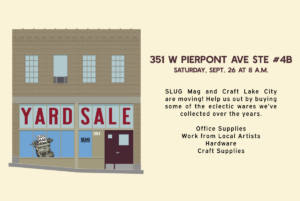 SLUG & Craft Lake City Yard Sale