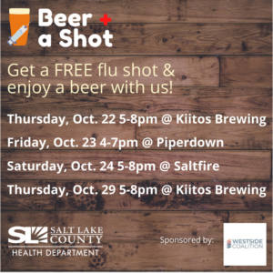 Beer and a shot flu shot clinic @ HandleBar