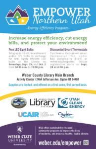 Empower Northern Utah Thermostat Registration Opens @ Online @ weber.edu/empower